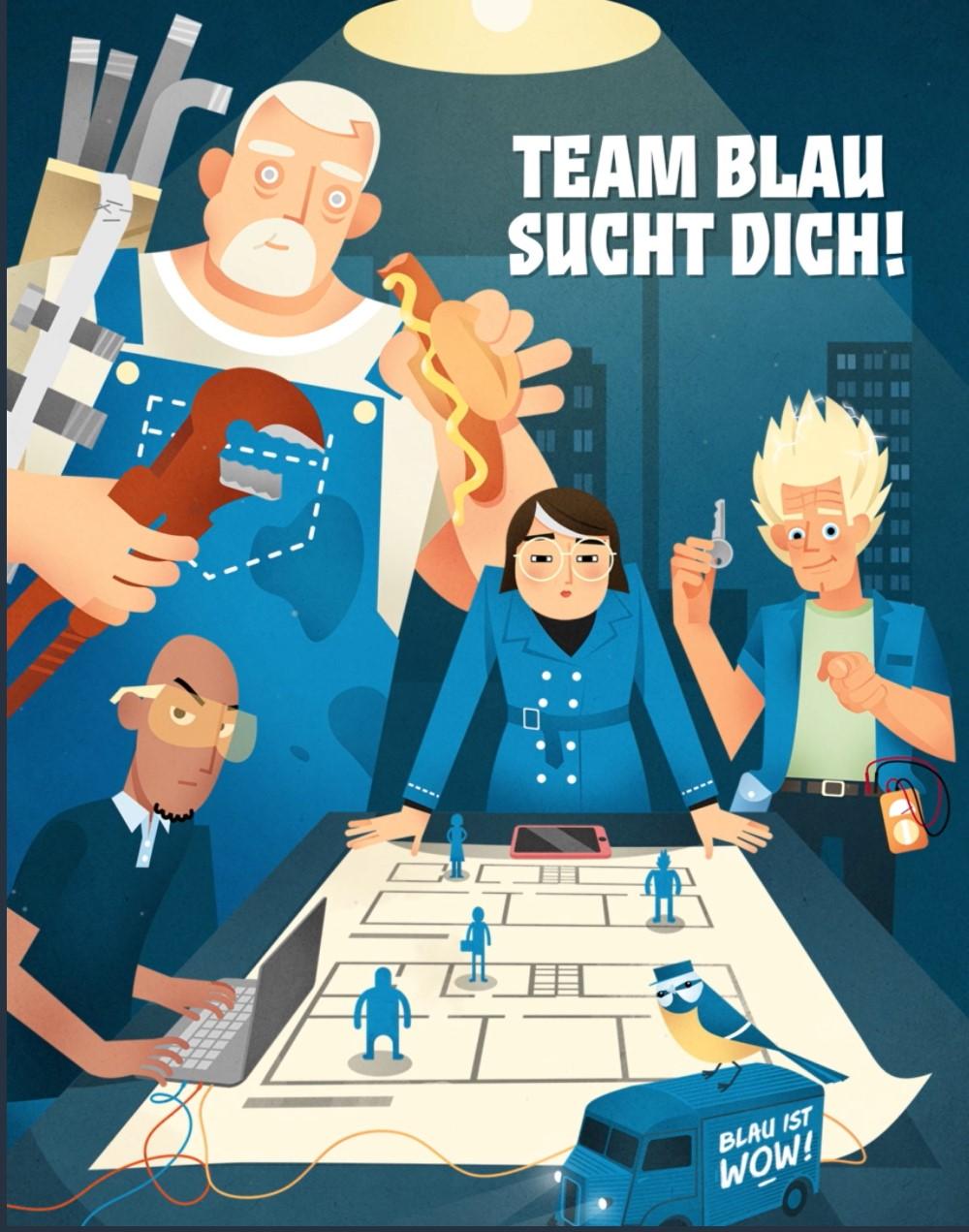 Team Blau im Recruiting-Einsatz